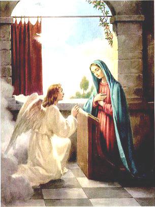 الْمَلَاكُ يبشر مريم